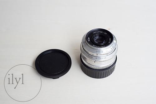 ロシアンレンズのIndustar-50 50mmシルバー鏡筒