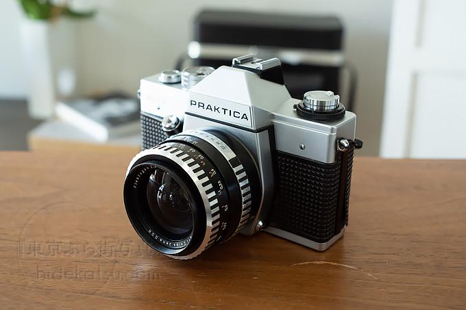 a film camera PRAKTICA PLC3 with Flektogon Zebra 35mm.