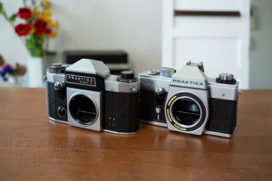 Time to use film cameras!!  A super beginner will start using first-time film cameras with PRAKTICA PLC3 and Helios 44-2